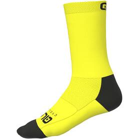 Alé Cycling Team Q-Skin Socks 18cm Men, fluo yellow